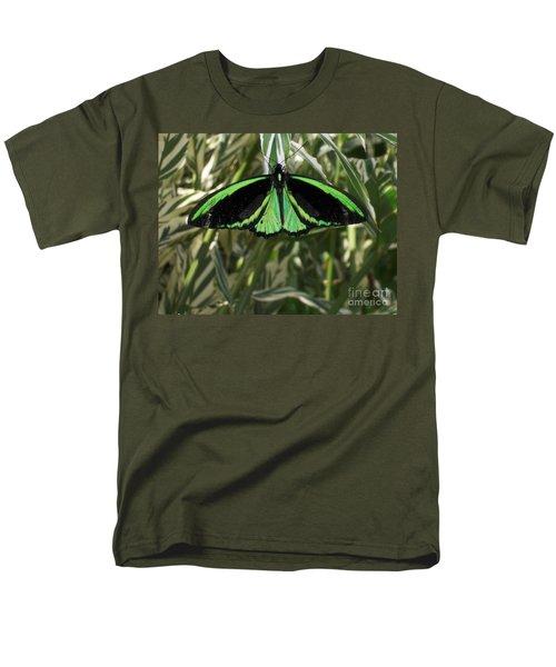 Men's T-Shirt  (Regular Fit) featuring the photograph Green Butterfly by Brenda Brown