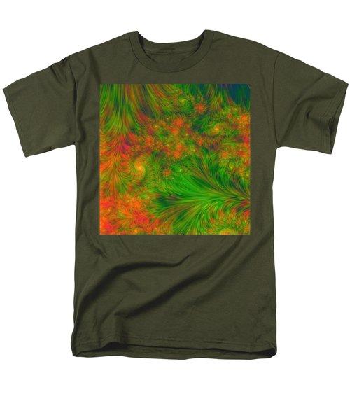 Men's T-Shirt  (Regular Fit) featuring the digital art Green Green Grass Of Home by Svetlana Nikolova