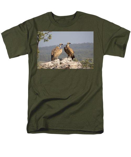 Griffon Vulture Pair Extremadura Spain Men's T-Shirt  (Regular Fit) by Gerard de Hoog