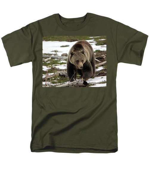 Men's T-Shirt  (Regular Fit) featuring the photograph Grizzly Bear In Spring by Jack Bell