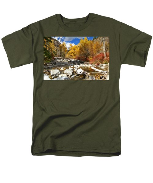 Men's T-Shirt  (Regular Fit) featuring the photograph Grizzly Creek Canyon by Jeremy Rhoades