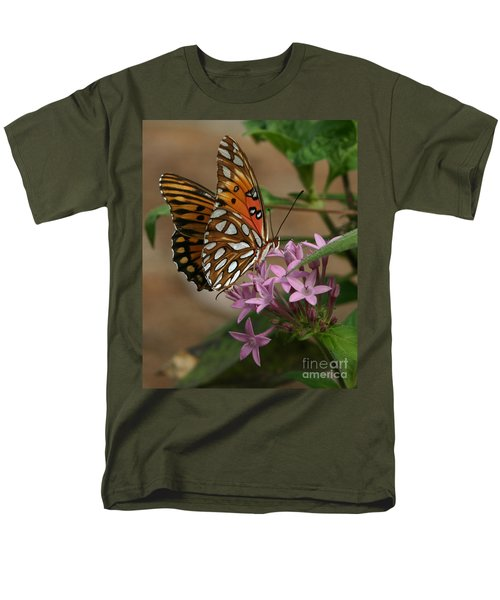 Gulf Fritillary Butterfly Men's T-Shirt  (Regular Fit)