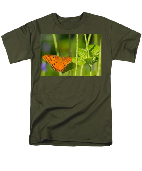 Men's T-Shirt  (Regular Fit) featuring the photograph Gulf Fritillary by Jane Luxton