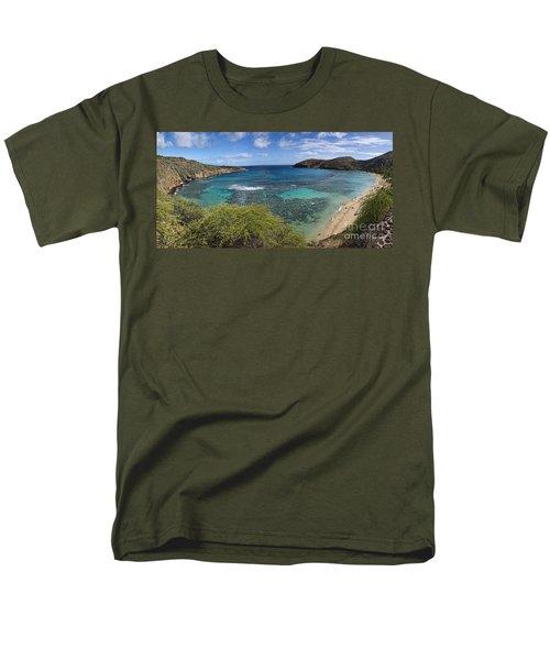 Hanauma Bay Panorama Men's T-Shirt  (Regular Fit) by David Smith