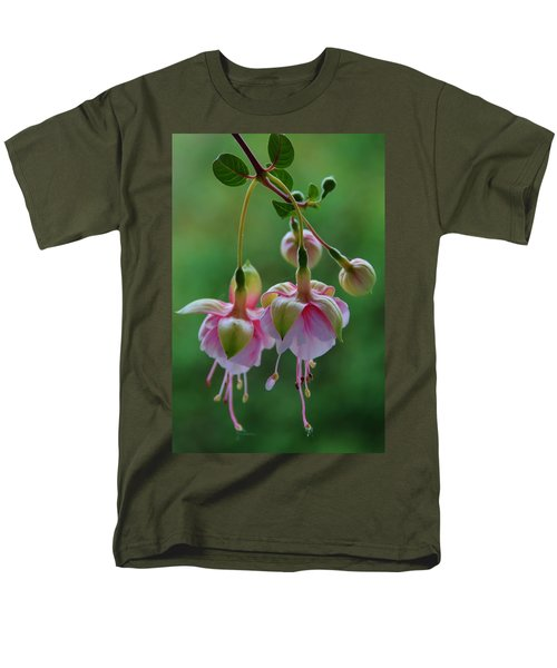 Men's T-Shirt  (Regular Fit) featuring the photograph Hanging Fuschia by Debra Martz