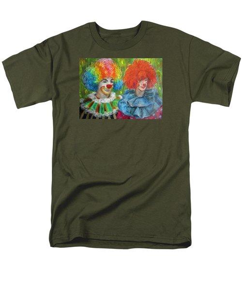 Men's T-Shirt  (Regular Fit) featuring the painting Gemini Clowns by Jieming Wang