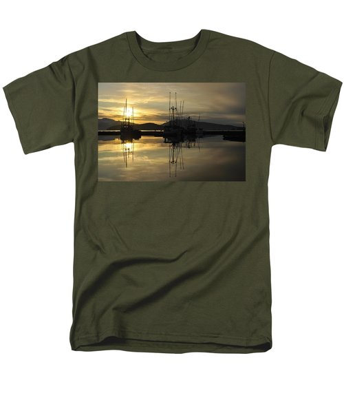 Men's T-Shirt  (Regular Fit) featuring the photograph Harbor Sunset by Cathy Mahnke