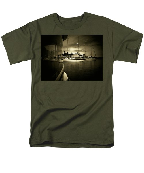 Men's T-Shirt  (Regular Fit) featuring the photograph Harbour Life by Micki Findlay