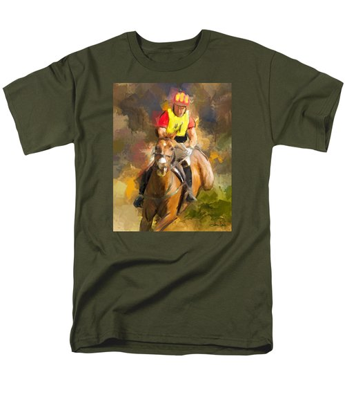 Men's T-Shirt  (Regular Fit) featuring the painting Hard Left by Joan Davis