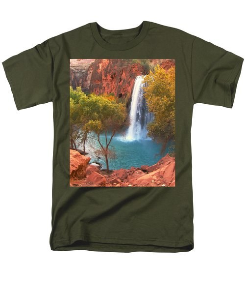 Havasu Falls Men's T-Shirt  (Regular Fit) by Alan Socolik