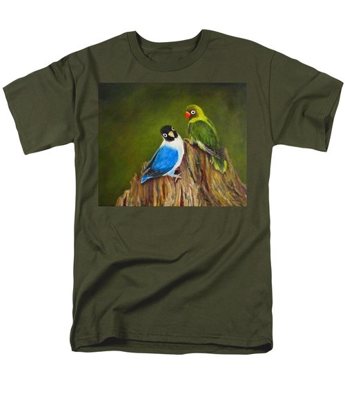 Men's T-Shirt  (Regular Fit) featuring the painting Hello by Roseann Gilmore