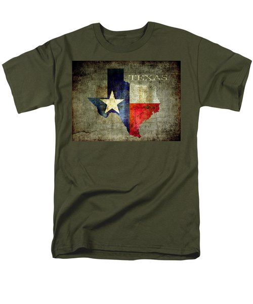 Hello Texas Men's T-Shirt  (Regular Fit) by Daniel Hagerman