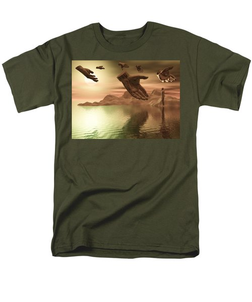 Men's T-Shirt  (Regular Fit) featuring the digital art Helping Hands by John Alexander