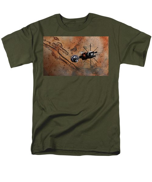 Hermes1 With The Mars Lander Ares1 In Sight Men's T-Shirt  (Regular Fit) by David Robinson