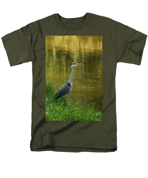 Heron Statue Men's T-Shirt  (Regular Fit) by Georgia Mizuleva