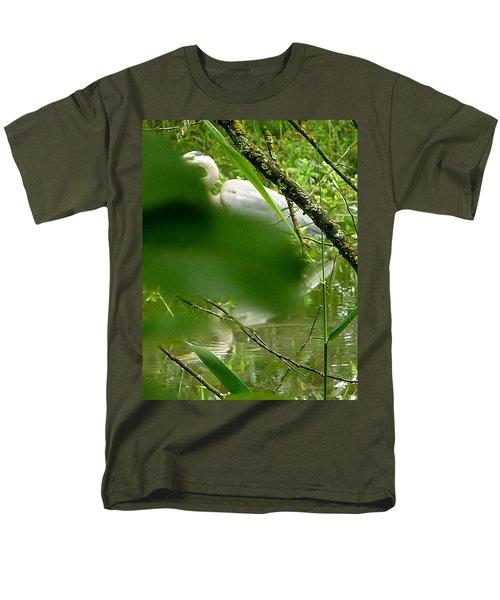 Men's T-Shirt  (Regular Fit) featuring the photograph Hidden Bird White by Susan Garren