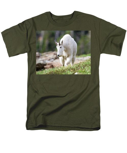 Men's T-Shirt  (Regular Fit) featuring the photograph High Country Mountain Goat by Jack Bell
