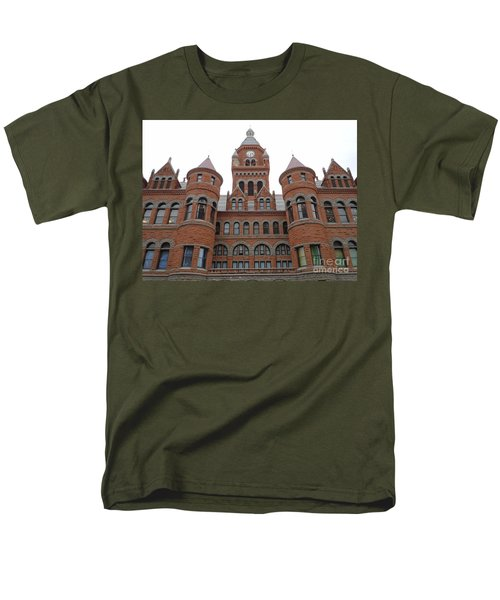 Men's T-Shirt  (Regular Fit) featuring the photograph Historic Old Red Courthouse Dallas #1 by Robert ONeil