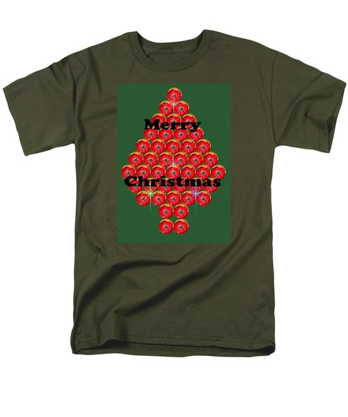 Holiday Tree Of Orbs 1 Men's T-Shirt  (Regular Fit) by Nick Kloepping