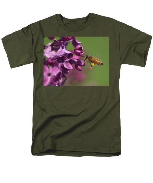 Honey Bee And Lilac Men's T-Shirt  (Regular Fit) by James Peterson