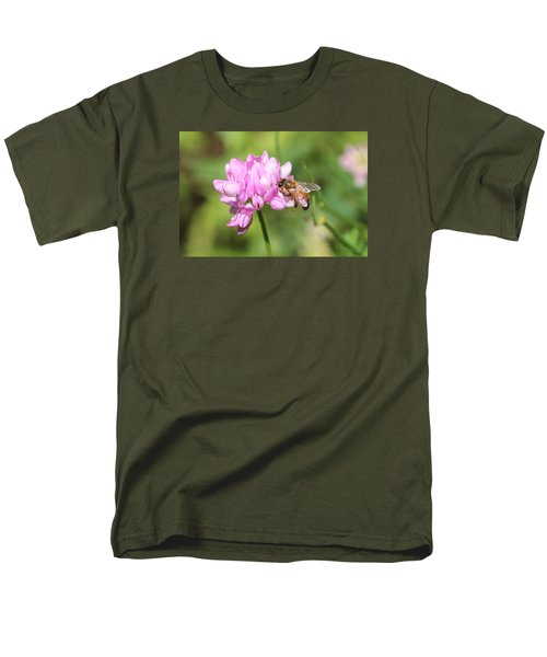 Honeybee On Crown Vetch Men's T-Shirt  (Regular Fit) by Lucinda VanVleck