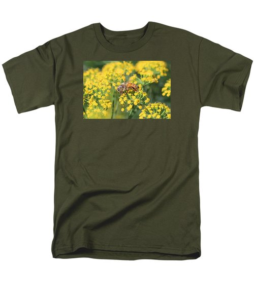 Honeybee On Dill Men's T-Shirt  (Regular Fit) by Lucinda VanVleck