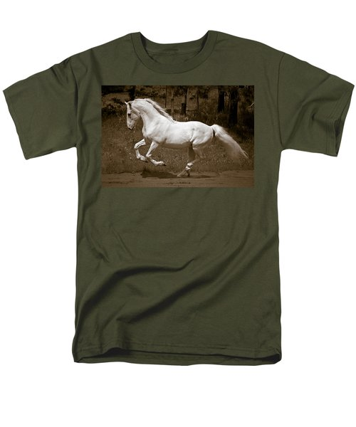 Men's T-Shirt  (Regular Fit) featuring the photograph Horsepower D5779 by Wes and Dotty Weber