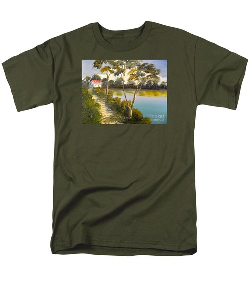 House By The Lake Men's T-Shirt  (Regular Fit) by Pamela  Meredith