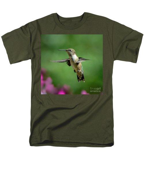 Hovering Hummer Men's T-Shirt  (Regular Fit) by Amy Porter