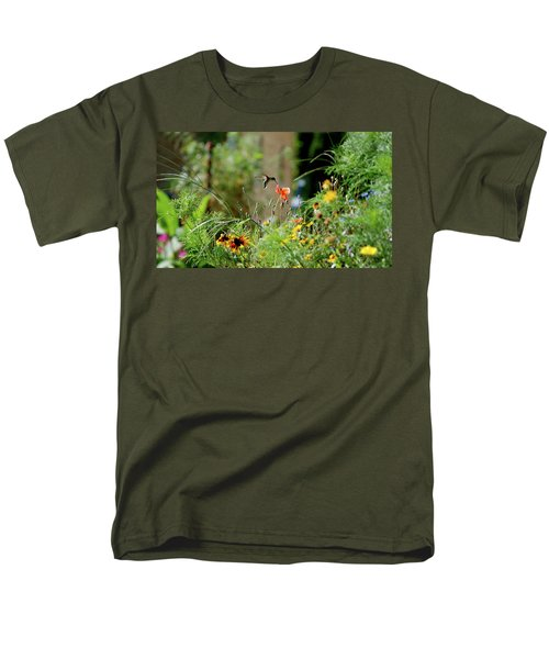 Men's T-Shirt  (Regular Fit) featuring the photograph Humming Bird by Thomas Woolworth