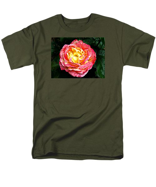 Men's T-Shirt  (Regular Fit) featuring the photograph Hybrid Tea Rose ' Love And Peace ' by William Tanneberger