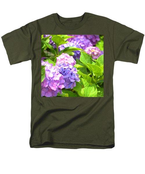 Men's T-Shirt  (Regular Fit) featuring the photograph Hydrangeas In The Sun by Rachel Mirror
