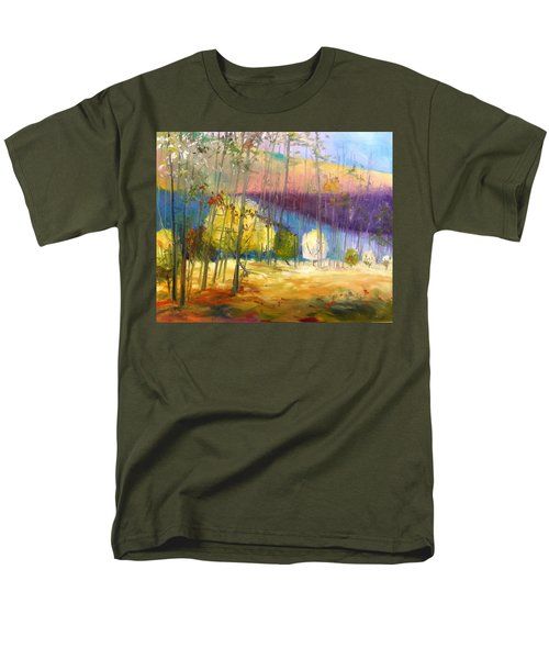 Men's T-Shirt  (Regular Fit) featuring the painting I See A Glow by John Williams