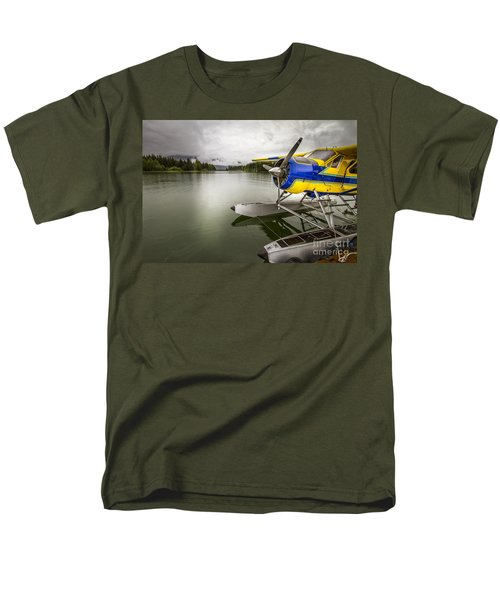 Idle Float Plane At Juneau Airport Men's T-Shirt  (Regular Fit) by Darcy Michaelchuk