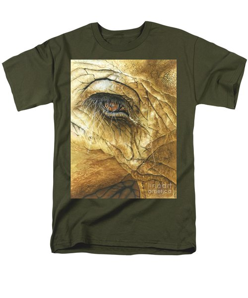 Men's T-Shirt  (Regular Fit) featuring the painting If You Could See What I've Seen... by Barbara Jewell