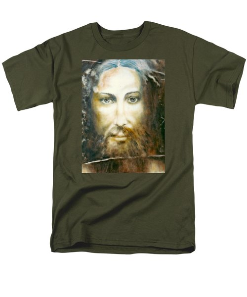 Men's T-Shirt  (Regular Fit) featuring the painting Image Of Christ by Henryk Gorecki