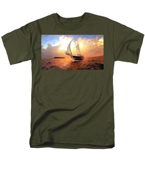 In Full Sail - Oil Painting Edition Men's T-Shirt  (Regular Fit) by Lilia D