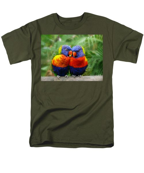 In Love Lorikeets Men's T-Shirt  (Regular Fit) by Peggy Franz