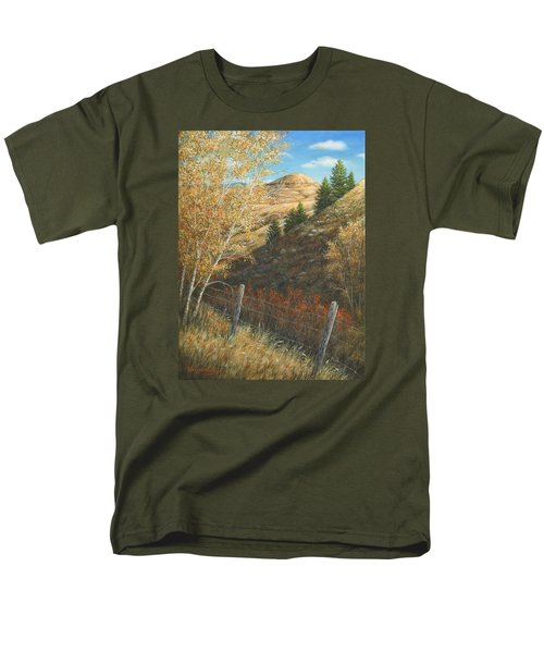 Men's T-Shirt  (Regular Fit) featuring the painting In The Shadow Of Belt Butte by Kim Lockman