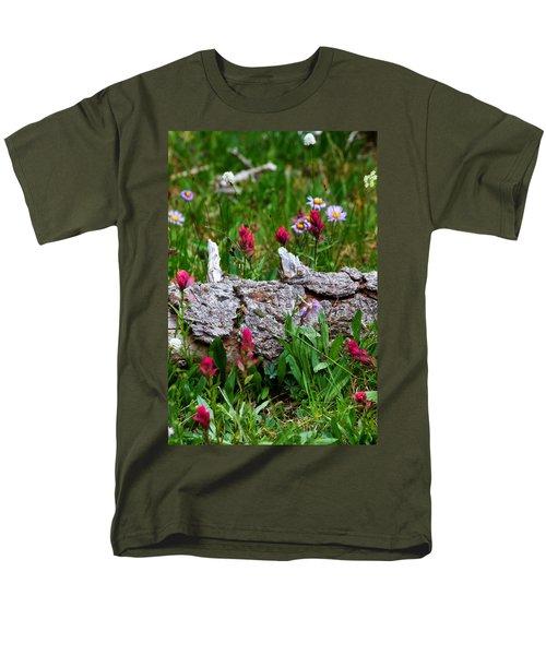 Men's T-Shirt  (Regular Fit) featuring the photograph Indian Paintbrush by Ronda Kimbrow