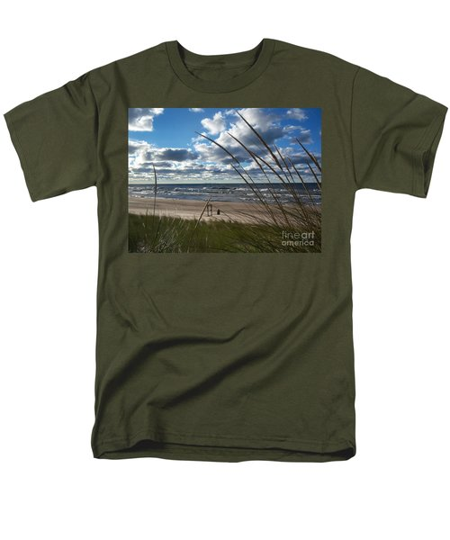 Indiana Dunes' Lake Michigan Men's T-Shirt  (Regular Fit)