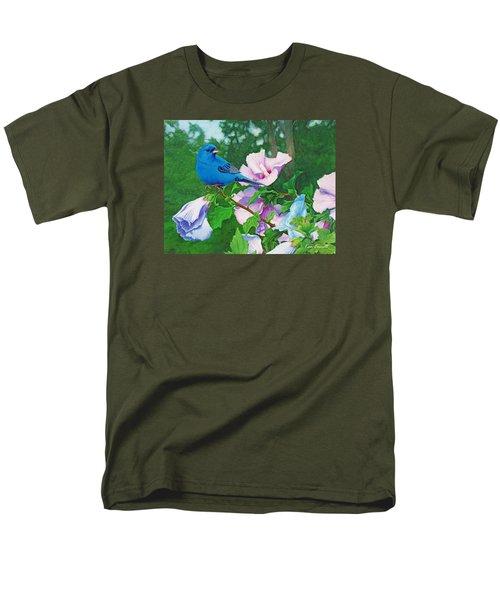 Indigo Bunting  Men's T-Shirt  (Regular Fit) by Ken Everett