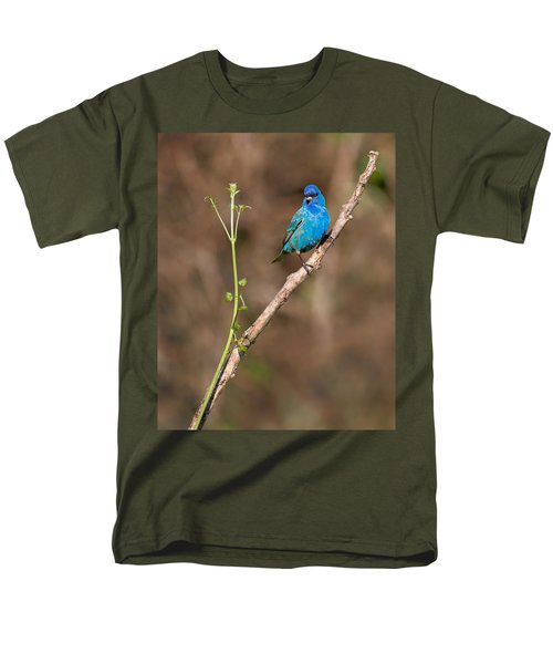 Indigo Bunting Portrait Men's T-Shirt  (Regular Fit) by Bill Wakeley