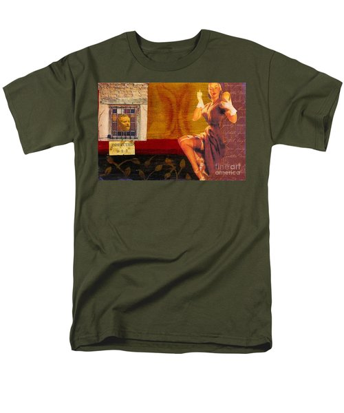 Men's T-Shirt  (Regular Fit) featuring the mixed media Inspected by Desiree Paquette