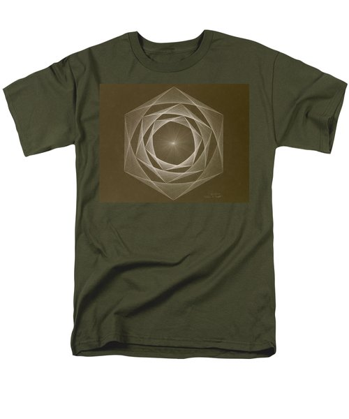 Men's T-Shirt  (Regular Fit) featuring the drawing Inverted Energy Spiral by Jason Padgett