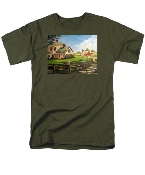 Iowa Farm Men's T-Shirt  (Regular Fit) by Lee Piper