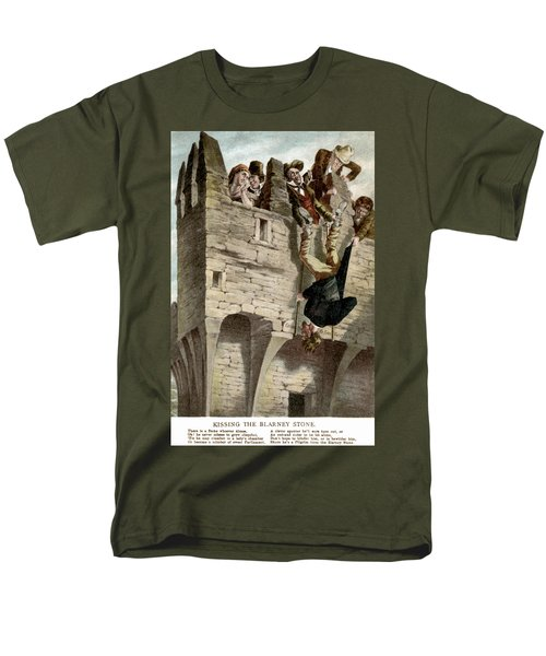 Men's T-Shirt  (Regular Fit) featuring the painting Ireland The Blarney Stone by Granger