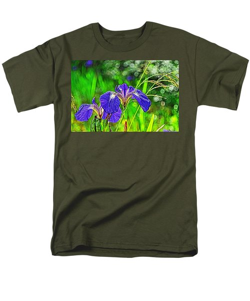 Men's T-Shirt  (Regular Fit) featuring the photograph Irises by Cathy Mahnke