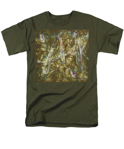Men's T-Shirt  (Regular Fit) featuring the painting It's Crazy Out There by Mini Arora