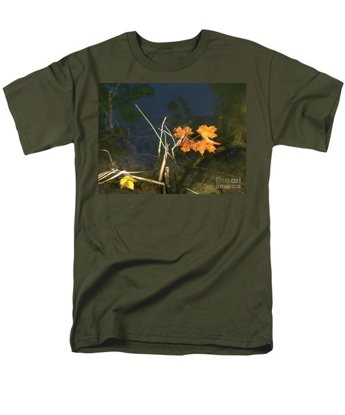 It's Over - Leafs On Pond Men's T-Shirt  (Regular Fit) by Brenda Brown